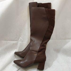 Tahari women's Bellary knee high brown boots